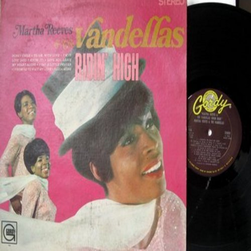 Martha & The Vandellas - Ridin' High: To Sir With Love, I Say A Little Prayer, Forget Me Not, Honey Chile, (There's) Always Something There To Remind Me, Love Bug Leave My Heart Alone (Vinyl STEREO LP record) - EX8/VG7 - LP Records