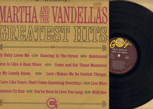 Martha & The Vandellas - Vandellas Greatest Hits: Dancing In The Street, Nowhere To Run, Love Is Like A Heatwave, Quicksand (Vinyl STEREO LP record) - EX8/VG7 - LP Records