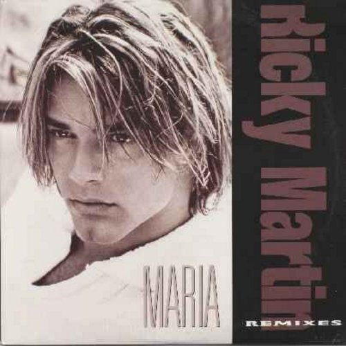 Martin, Ricky - Maria - 12 inch maxi single featuring 2 different 8 minute Spanish Dance versions of hit (1995 original - 3 years BEFORE Living La Vida Loca! - Gorgeous Picture Cover!) - NM9/NM9 - Maxi Singles