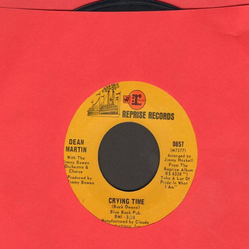 Martin, Dean - Crying Time/One Cup Of Happiness (And One Peace Of Mind)(wol) - EX8/ - 45 rpm Records