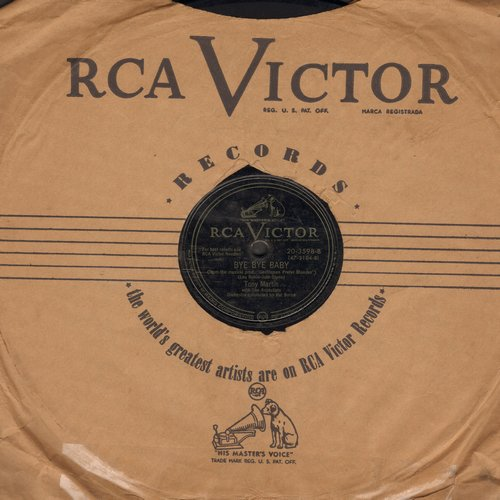 Martin, Tony - Bye Bye Baby (from -Gentlemen Prefer Blondes-)/Maria (10 inch 78rpm record) - VG7/ - 78 rpm