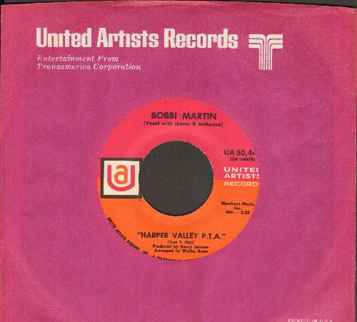 Martin, Bobbi - Harper Valley P.T.A./He Called Me Baby (with United Artists company sleeve) - EX8/ - 45 rpm Records