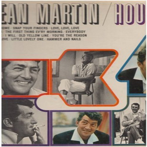 Martin, Dean - Houston: Down Home, Snap Your Fingers, Detour, Love Love Love (Vinyl MONO LP record) - NM9/EX8 - LP Records