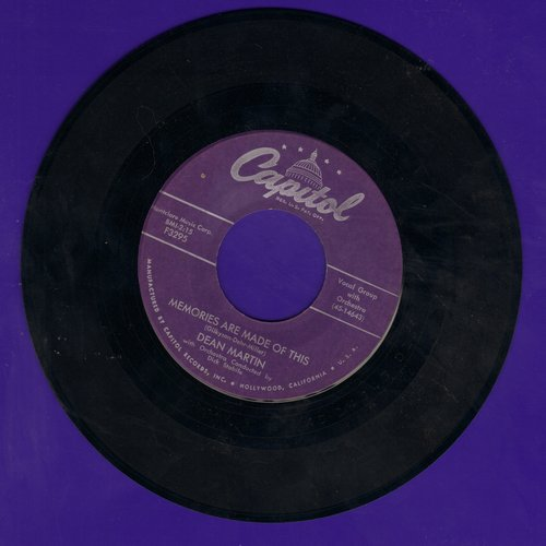Martin, Dean - Memories Are Made Of This/Change Of Heart (purple label first pressing) - VG7/ - 45 rpm Records