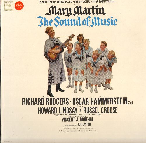 Martin, Mary - The Sound Of Music - Rodgers & Hammerstein Musical, Original Cast satrring Mary Martin (Vinyl MONO LP record, gray label, 360 degrees Sound, vinyl SEALED, never played!) - M10/NM9 - LP Records