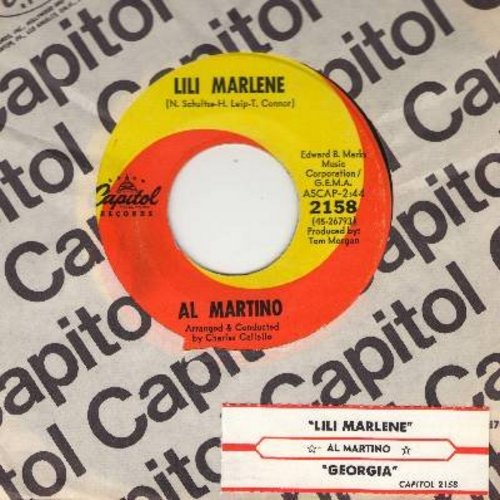 Martino, Al - Lili Marlene (My Lili Of The Lamplight)/Georgia (with vintage Capitol company sleeve and juke box label) - NM9/ - 45 rpm Records