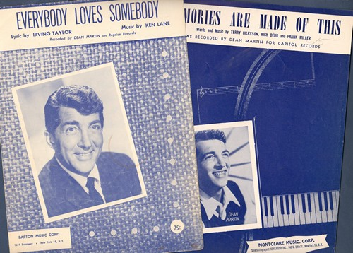 Martin, Dean - 2 Vintage SHEET MUSIC titles by the legendary crooner for the price of 1! Includes
