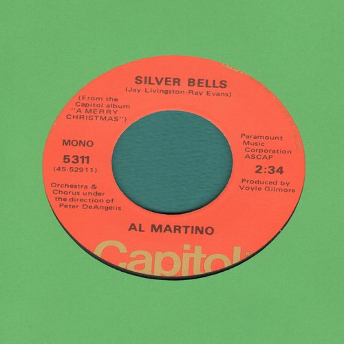 Martino, Al - Silver Bells/You're All I Want For Christmas (70s issue) - VG7/ - 45 rpm Records