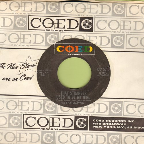 Martin, Trade - That Stranger Used To Be My Girl/We'll Be Dancin' On The Moon (FANTASTIC Novelty 2-sider with RARE vintage Coed company sleeve) - NM9/ - 45 rpm Records