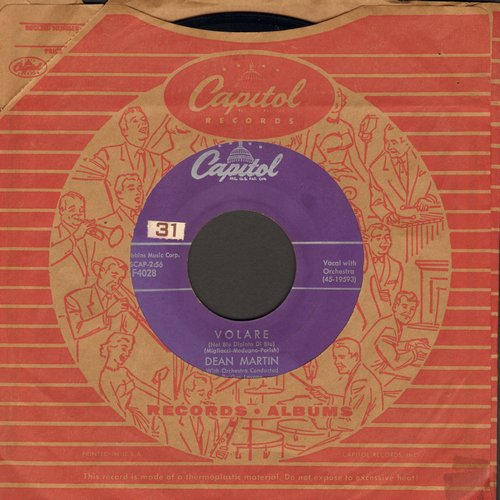 Martin, Dean - Volare/Outta My Mind (with vintage Capitol company sleeve) - EX8/ - 45 rpm Records