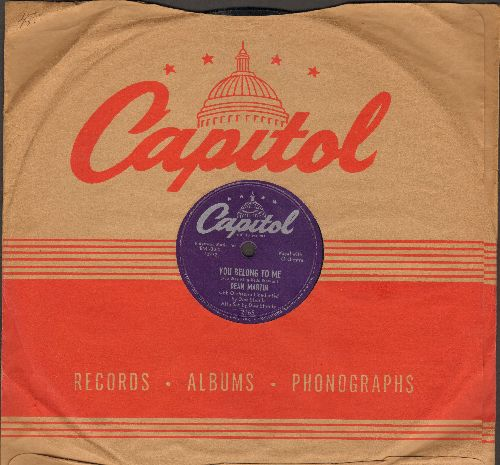 Martin, Dean - You Belong To Me/Hominy Grits (10 inch 78 rpm record with Capitol company sleeve) - EX8/ - 78 rpm