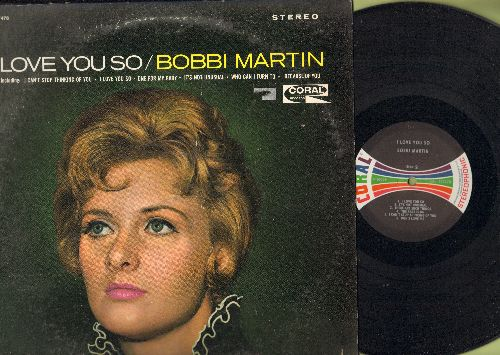 Martin, Bobbi - I Love You So: I Can't Stop Loving You, One For My Baby, It's Not Unusual (Vinyl MONO LP record) - NM9/EX8 - LP Records