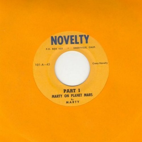 Marty - Marty On Planet Mars (Parts 1 + 2) (cut-in novelty) - VG7/ - 45 rpm Records