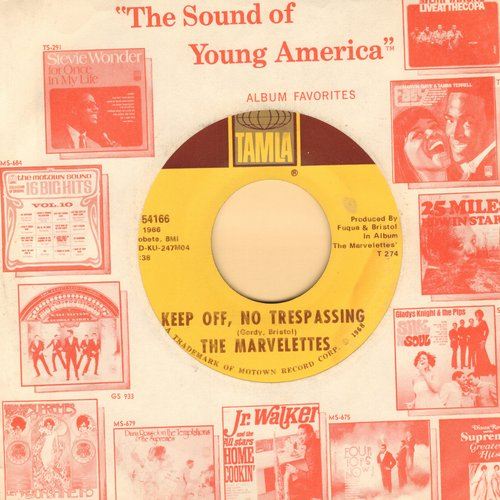 Marvelettes - Keep Off, No Trespassing/Here I Am Baby - NM9/ - 45 rpm Records