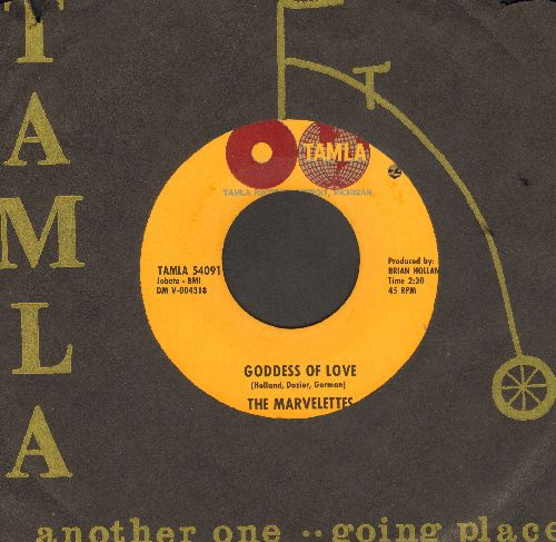 Marvelettes - Goddess Of Love/He's A Good Guy (Yes He Is) (with Tamla company sleeve) - VG7/ - 45 rpm Records