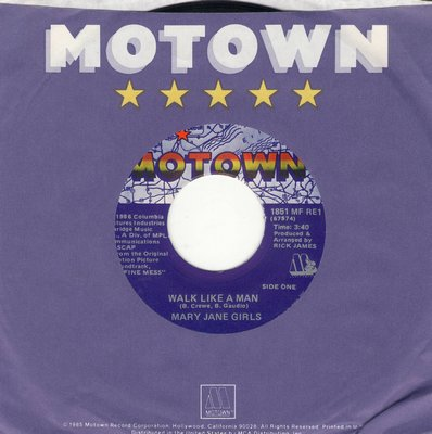 Mary Jane Girls - Walk Like A Man/Shadow Lover (with Motown company sleeve) - NM9/ - 45 rpm Records