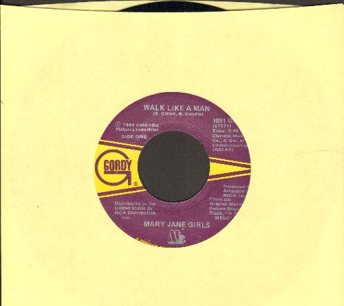 Mary Jane Girls - Walk Like A Man/Shadow Lover  - NM9/ - 45 rpm Records