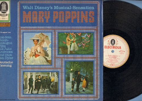 Disney - Mary Poppins - German Version of the Musical Numbers from the Walt Disney Classic (Vinyl STEREO LP record, German Pressing, sung in German) - NM9/EX8 - LP Records