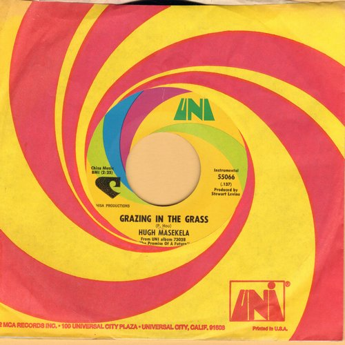 Masekela, Hugh - Grazing In The Grass/Bajabula Bonke (with Uni company sleeve)(bb) - NM9/ - 45 rpm Records