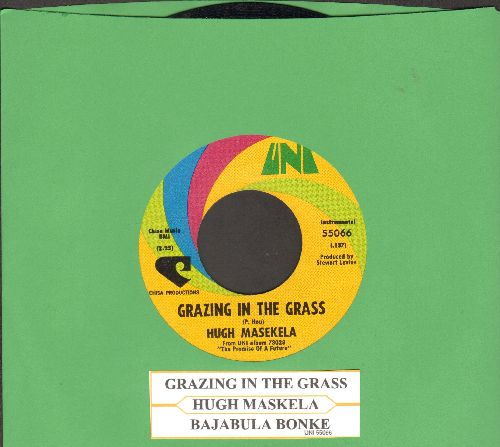 Masekela, Hugh - Grazing In The Grass/Bajabula Bonke (with juke box label) - EX8/ - 45 rpm Records
