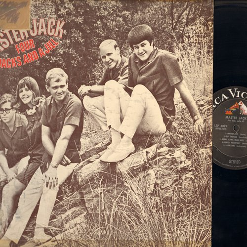 Four Jacks & A Jill - Master Jack: Lonely Desert Boy, Mister Nico, I Looked Back, Penny PaperFifi The Flea (Vinyl STEREO LP record, sol, woc) - EX8/VG6 - LP Records