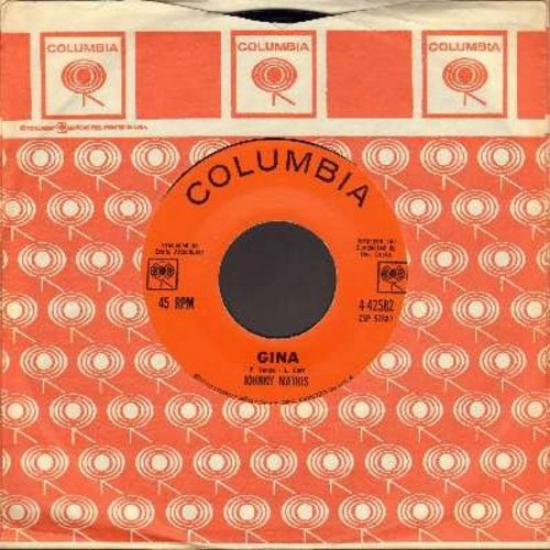 Mathis, Johnny - Gina/I Love Her That's Why (with Columbia company sleeve and juke box label) - NM9/ - 45 rpm Records