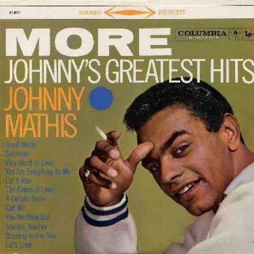 Mathis, Johnny - More Johnny's Greatest Hits: Small World, Call Me, You Are Beautiful, Stairway To The Sea, Let's Love (Vinyl STEREO LP record, NICE condition!) - NM9/EX8 - LP Records