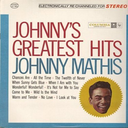 Mathis, Johnny - Johnny's Greatest Hits: Chances Are, The Twelfth Of Never, Wonderful Wonderful, Wild Is The Wind (Vinyl LP record in stereo 1980s prssing in MINT condition!) - M10/M10 - LP Records
