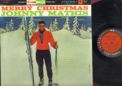 Mathis, Johnny - Merry Christmas: Winter Wonderland, Sleigh Ride, White Christmas, The Christmas Song, Silent Night (Vinyl STEREO LP record) (RARE early issue!) - EX8/NM9 - LP Records