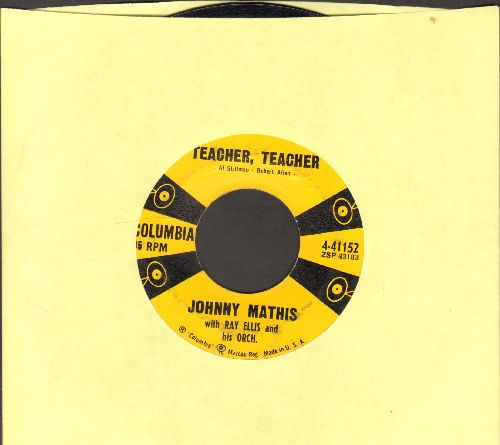 Mathis, Johnny - Teacher, Teacher/All The Time  - EX8/ - 45 rpm Records