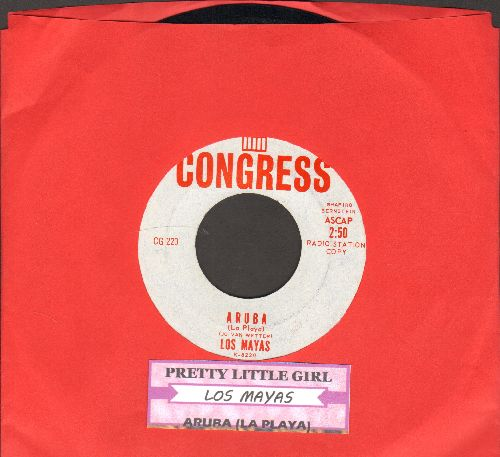 Los Mayas - Pretty Little Girl/Aruba (La Playa) (RARE DJ advance pressing with juke box label) - NM9/ - 45 rpm Records