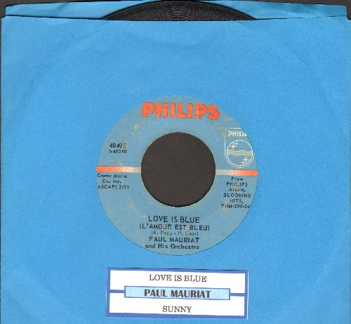 Mauriat, Paul & His Orchestra - Love Is Blue (L'amour Est Bleu)Alone In The World (Seuls Au Monde) (with juke box label) - VG7/ - 45 rpm Records