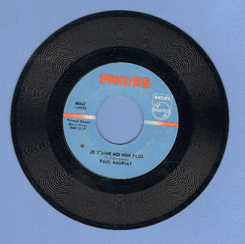 Mauriat, Paul & His Orchestra - Je T'aime Moi Non Plus/I Want To Live (bb) - VG7/ - 45 rpm Records