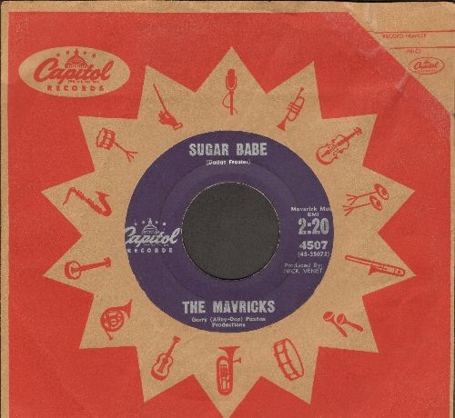 Mavricks - Sugar Babe/Angel With A Heartache (with vintage Capitol company sleeve) - VG7/ - 45 rpm Records