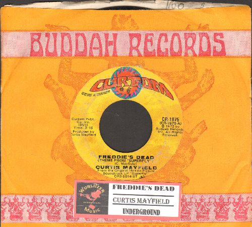 Mayfield, Curtis - Freddie's Dead (Theme From -Superfly-)/Underground (with juke box label and company sleeve) - EX8/ - 45 rpm Records