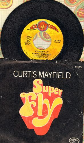 Mayfield, Curtis - Superfly/Love To Keep You In My Mind (with picture sleeve) - NM9/EX8 - 45 rpm Records
