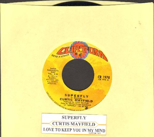 Mayfield, Curtis - Superfly/Love To Keep You In My Mind (with juke box label) - NM9/ - 45 rpm Records
