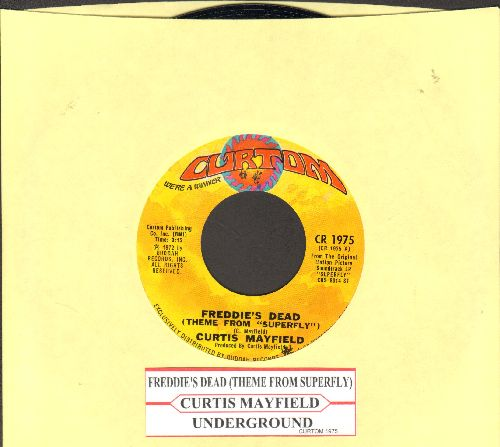 Mayfield, Curtis - Freddie's Dead (Theme From -Superfly-)/Underground (with juke box label) - NM9/ - 45 rpm Records