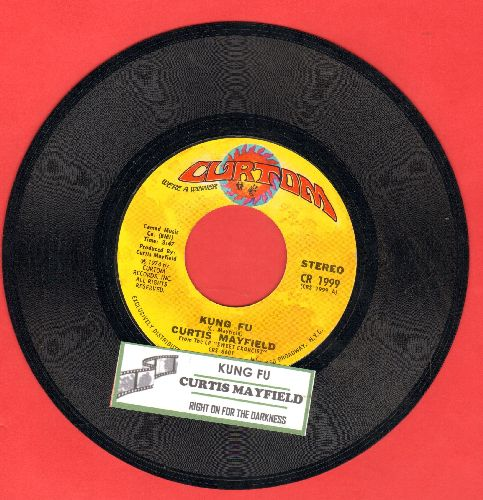 Mayfield, Curtis - Kung Fur/Right On For The Darkness (with juke box label) - NM9/ - 45 rpm Records