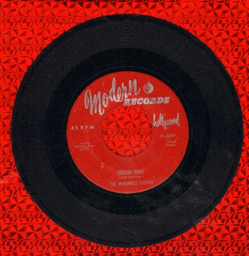 McDonald Sisters - Dream Boat/If It's Love (maroon label first issue) - VG7/ - 45 rpm Records