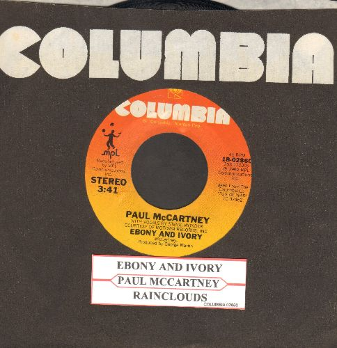 McCartney, Paul & Stevie Wonder - Ebony & Ivory/Rainclouds (with juke box label and Columbia company sleeve) - NM9/ - 45 rpm Records