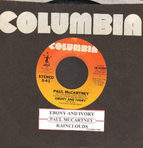 McCartney, Paul & Stevie Wonder - Ebony & Ivory/Rainclouds (with juke box label and Columbia company sleeve) - NM9/ - 45 rpm Records