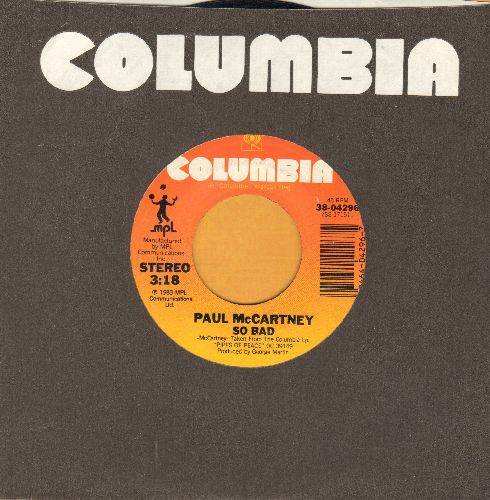 McCartney, Paul - So Bad/Pipes Of Peace (with company sleeve) - NM9/ - 45 rpm Records