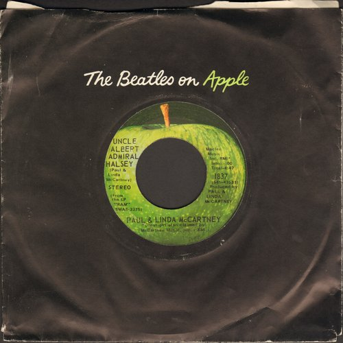 McCartney, Paul & Linda - Uncle Albert/Admiral Halsey/Too Many People (with Apple company sleeve) - EX8/ - 45 rpm Records