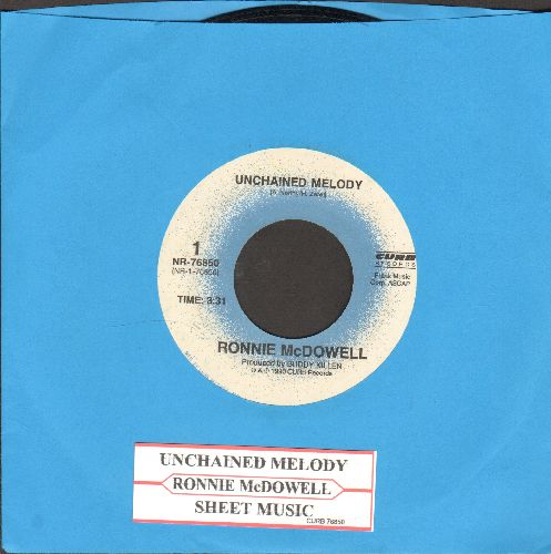 McDowell, Ronnie - Unchained Melody/Sheet Music (with juke box label) - NM9/ - 45 rpm Records