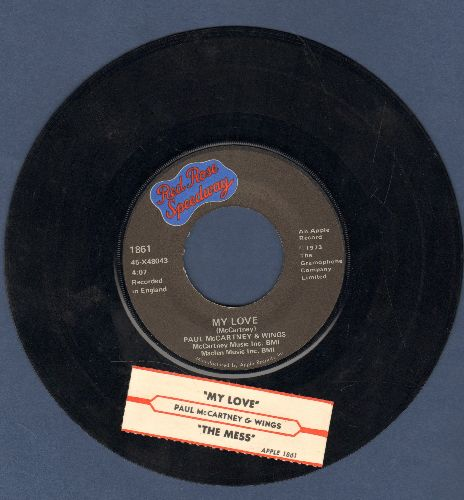 McCartney, Paul & Wings - My Love/The Mess - EX8/ - 45 rpm Records