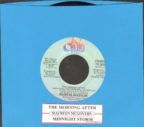 McGovern, Maureen - The Morning After (From The Poseidon Adventure - 1973 Oscar Winner Best Song!)/Midnight Storm (with juke box label) - EX8/ - 45 rpm Records