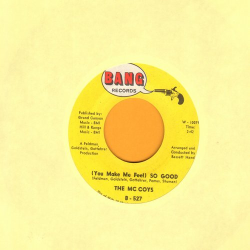 McCoys - You Make Me Feel So Good/Runaway (bb) - VG7/ - 45 rpm Records