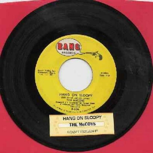 McCoys - Hang On Sloopy (PARTY FAVORITE!)/I Can't Explain It (with juke box label) - VG7/ - 45 rpm Records