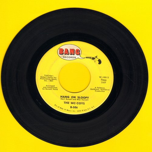 McCoys - Hang On Sloopy (PARTY FAVORITE!)/I Can't Explain It (bb) - EX8/ - 45 rpm Records